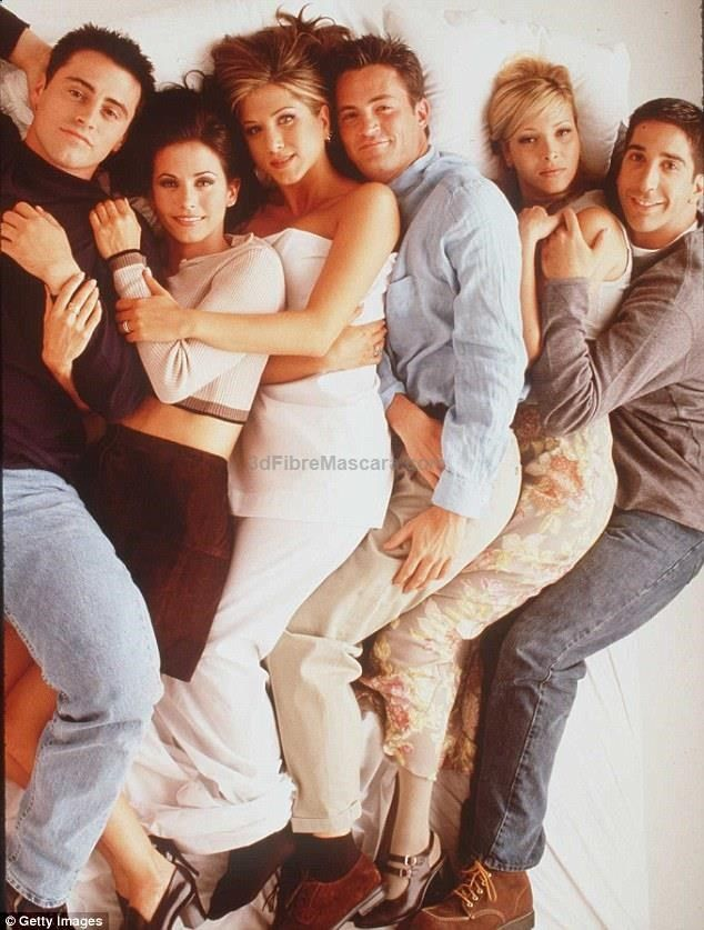 #friends (ps.. if i were jennifer aniston, i would've been pissed about this photoshoot. why is she the only one in a sheet instead of clothes? lol)