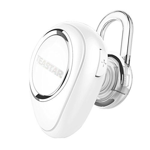 Mini Bluetooth Earphones Wireless Headphones with Mic Headset in Ear Earbuds Handsfree for iPhone Samsung HTC Smartphones iPad Tablets (White) *** Read more reviews of the product by visiting the link on the image.