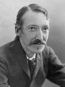 Robert Louis Stevenson (by Henry Walter Barnett bw.jpg) (13 Nov 1850 - 3 Dec 1894) was a Scottish novelist, poet and travel writer.  JM lived during his lifetime.