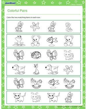 free critical thinking worksheets for kindergarten discriminating shapes and size free. Black Bedroom Furniture Sets. Home Design Ideas