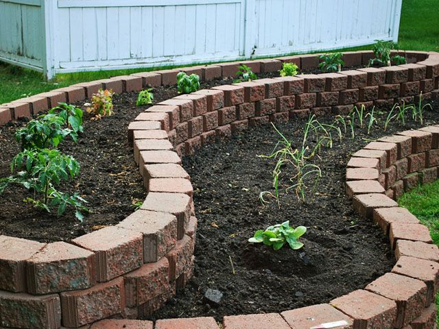 two-tier raised flower bed