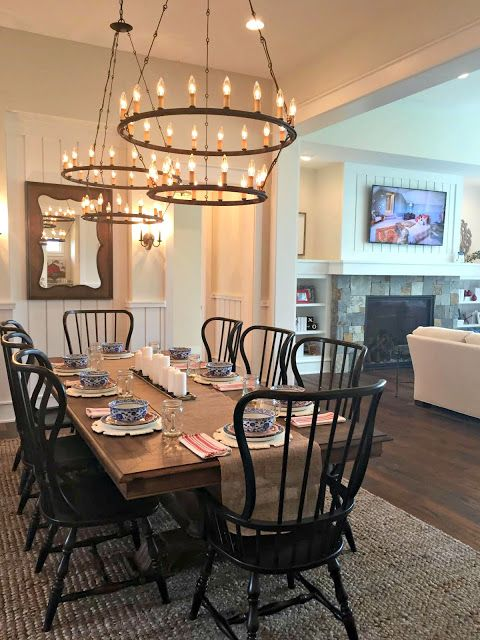 My Two Favorite Home Tours Ever Round ChandelierChandeliersDouble RingTraditional StylesHome ToursDining RoomsKitchen