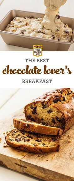 It's a cinch to prep and bake this delicious bread packed full of walnuts and NESTLÉ® TOLL HOUSE® Dark Chocolate Morsels for breakfast. Get the recipe from Nestle Toll House.