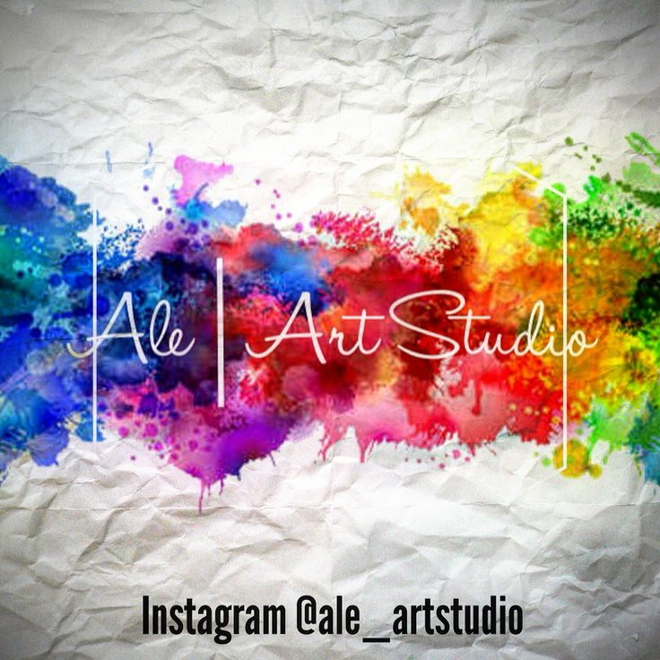 Watercolour logo Ale|ArtStudio