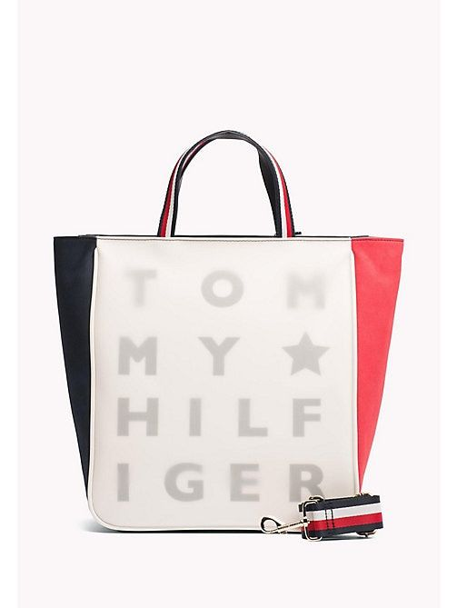 eee41b45f TOMMY HILFIGER Bolso tote transparente con logo - CORPORATE CB - TOMMY  HILFIGER Mujer - imagen