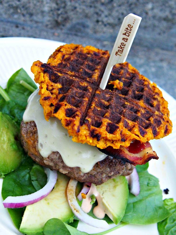Saftig cheesbuger med søtpotetbrød (via Bloglovin.com )