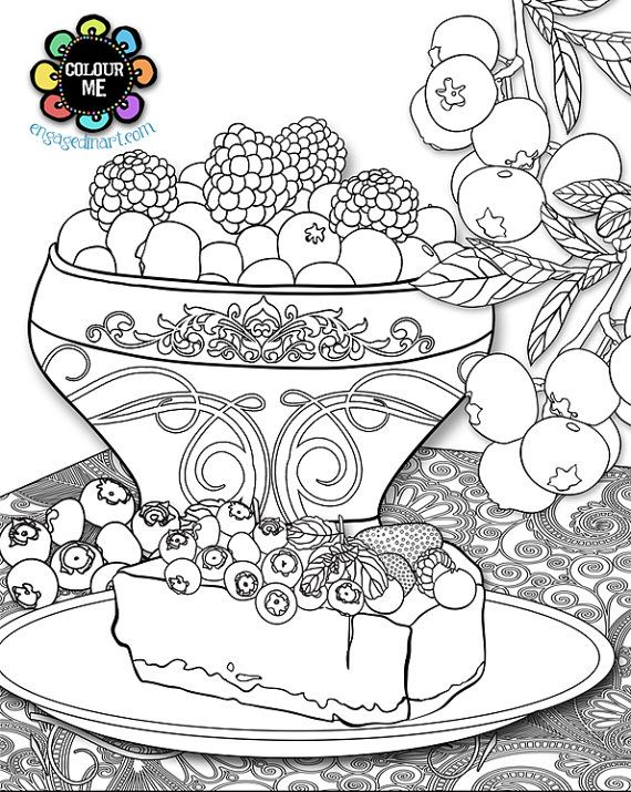 66 Best Images About Cupcakes Cakes Coloring Pages For Adults On Pinterest