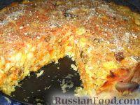 Сладкая запеканка из риса и моркови