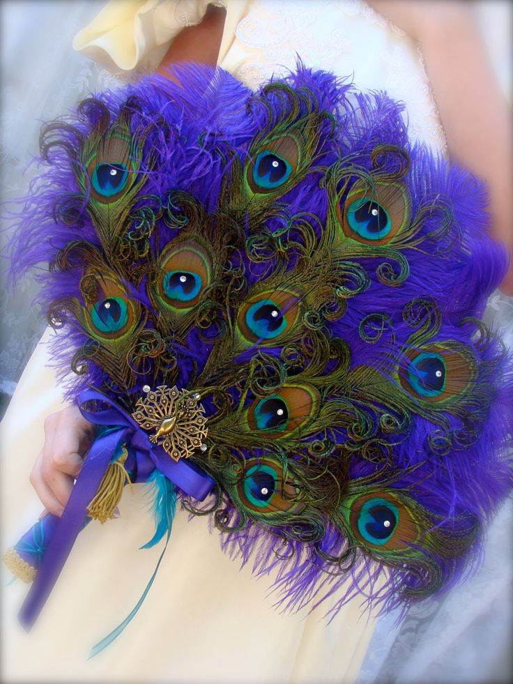 Peacock Purple Lime Green Christmas Wreath Home Decor Purple: 108 Best Images About Fans On Pinterest