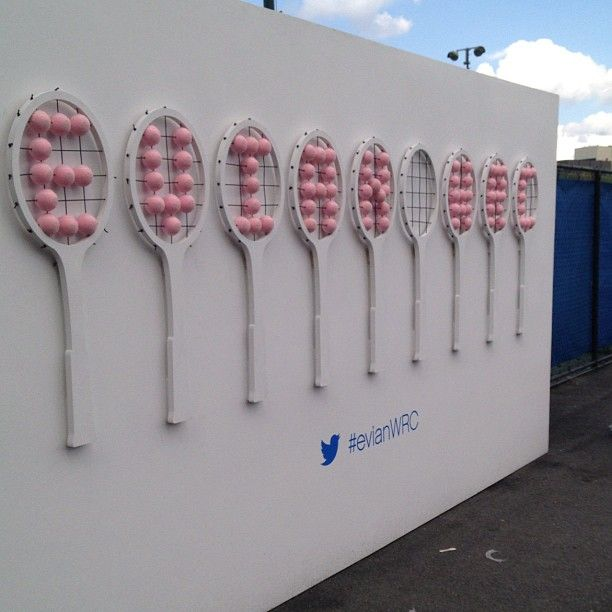 The step-and-repeat @EvianWater #evianWRC - Follow bizbash_news on Instagram http://bizba.sh/FollowGram