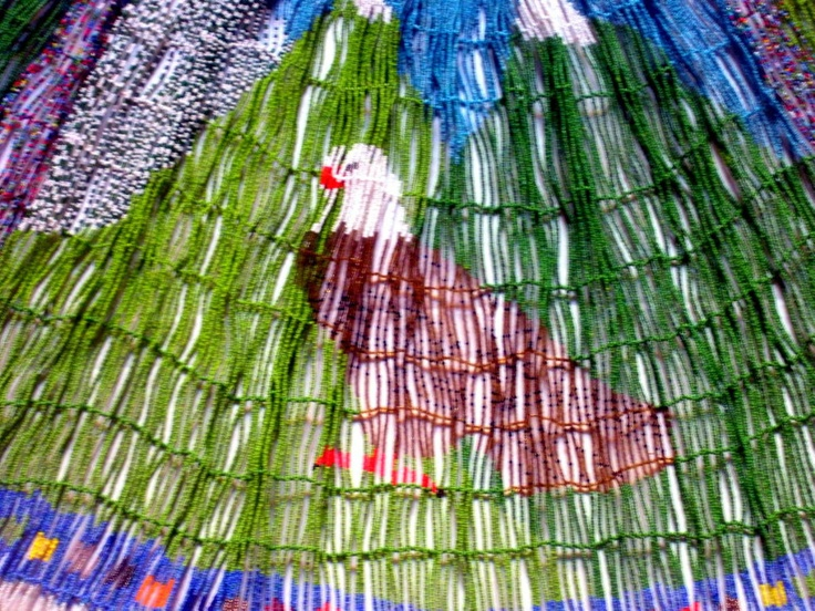 Great Americn Eagle as beaded by hand by on e America's native Sons...