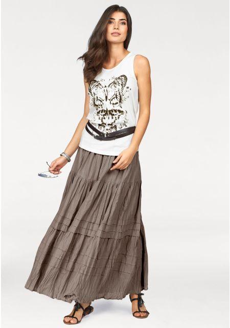Многоярусная юбка. цвет: серо-коричневый арт: 299212263 купить в Интернет магазине Quelle за 2199.00 руб  - с доставкой по Москве и России