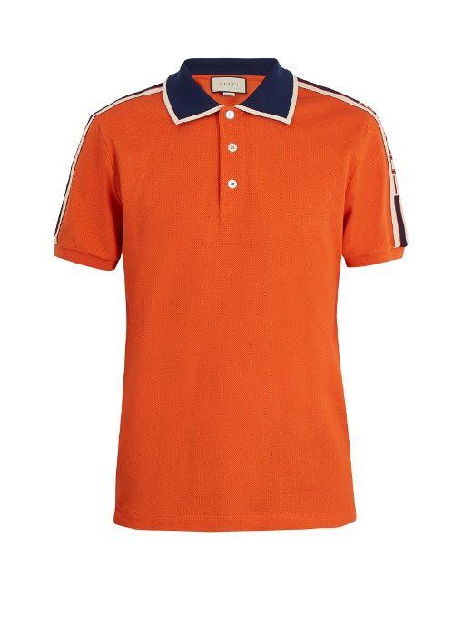 9eb0258fd7 GUCCI . #gucci #cloth # | Gucci Men | Mens retro shirts, Orange polo ...
