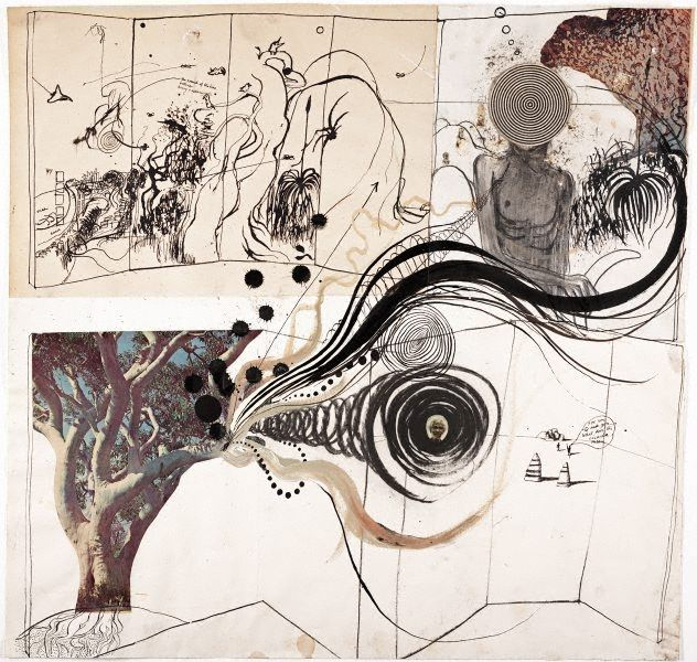 Aboriginal drawing by Brett Whiteley :: The Collection :: Art Gallery NSW