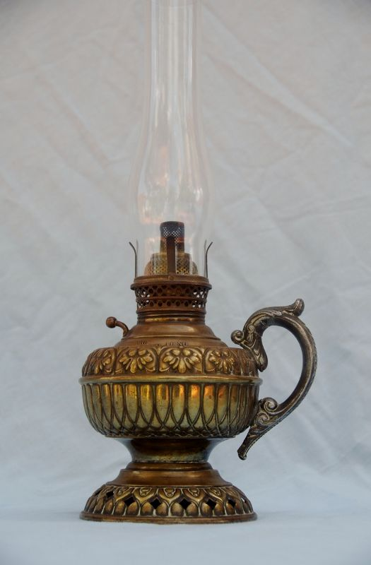 Antique Brass Oil Lamps Original Brass Tiny Juno Finger