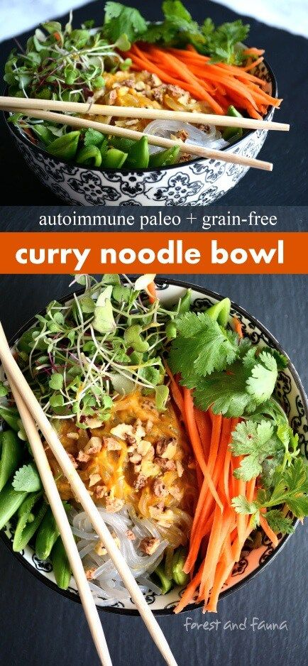 Autoimmune Paleo Curry Noodle Bowl