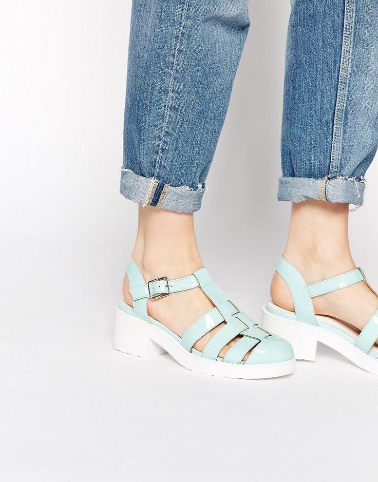 Image 1 ofNew Look Jurassic Mint Gladiator Heeled Shoes