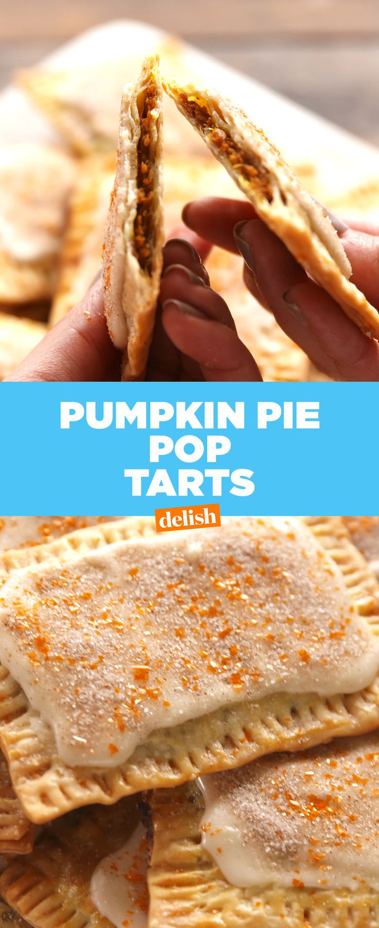 Pumpkin Pie Pop Tarts beat out store bought any day of the week. Get the recipe at Delish.com.