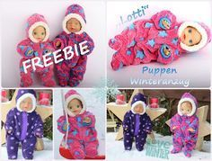 "Freebie Puppen-Winteranzug ""Lotti"" sticKUHlinchen"