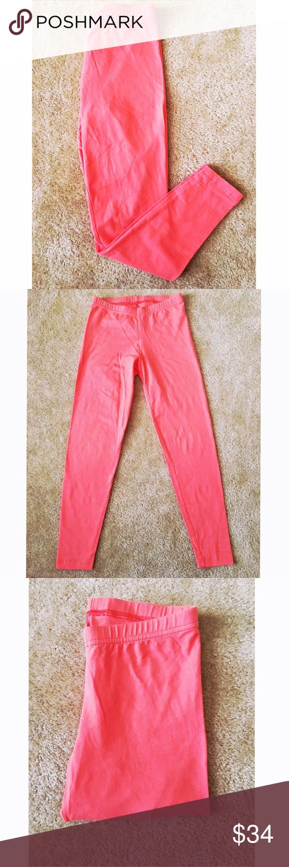 American Apparel Pink Leggings Perfect for The Spring + Summer! You can wear these with just about anything! They are so comfortable + has a little stretch to them. Very well taken care of with no rips or stains + 🚭 of course!  If you anyone has any questions ask away! I'm always up for offers. 💕💕 Have a wonderful day! American Apparel Pants Leggings
