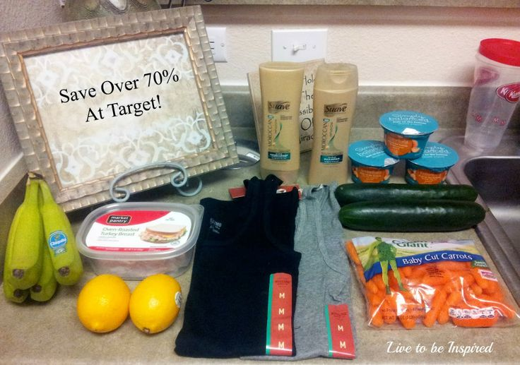 Live to be Inspired | How to save over 70% at Target on fresh produce, meat, clothing & more!
