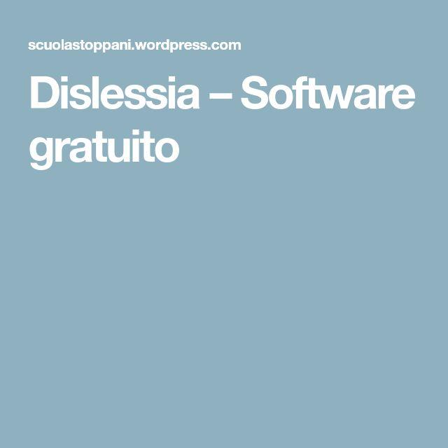 Dislessia – Software gratuito