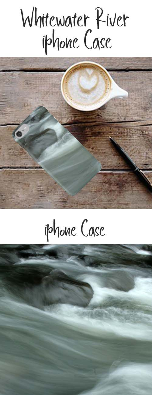An iphone case with an image of a whitewater river. Buy it here: https://www.redbubble.com/people/rhamm/works/10999482-rocks-in-the-river?asc=u&p=iphone-case&rel=carousel