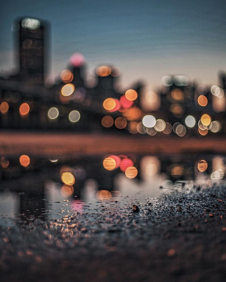 Bokeh City Lights in Pittsburgh, Pennsylvania by Lane Ramage