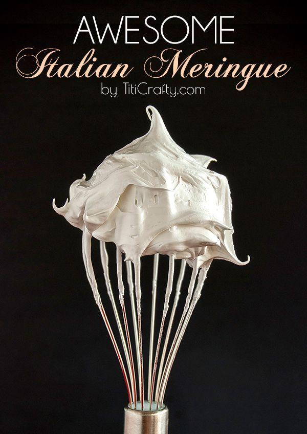 How to Make an Awesome Italian Meringue #recipe #italianmeringue #yummyrecipe
