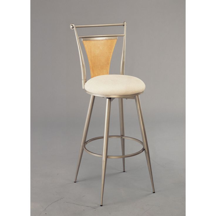 London Champagne Swivel Barstool Hillsdale Furniture Bar Height (28 To 36 Inch) Bar Stools