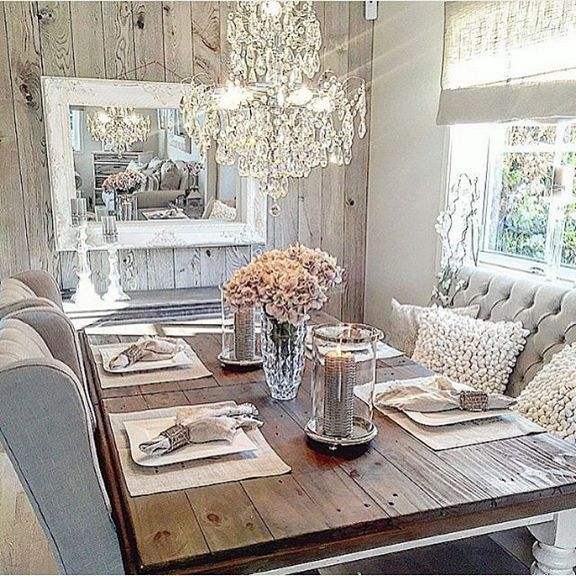 37 Top Rustic Glam Dining Room Choices