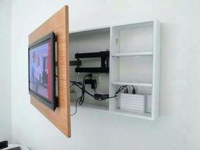 fernseher aufhangen kabel verstecken wohnzimmer fernseher verstecken tv kabel ve… – Alexandra Nicolescu