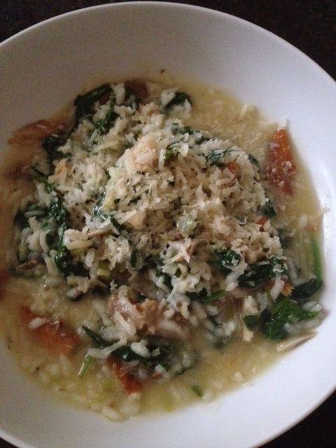 Smoked haddock & spinach risotto
