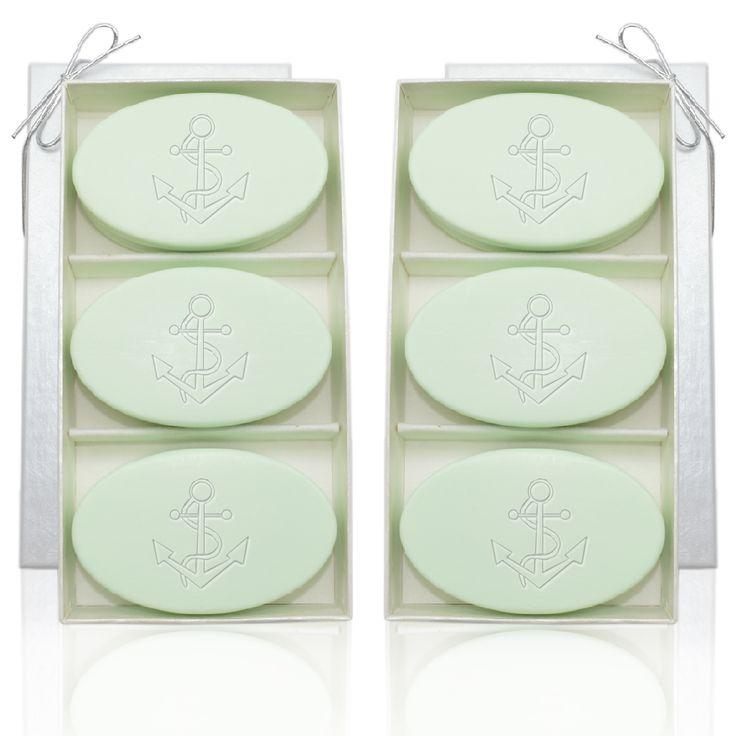 Set of Two Signature Spa Soap Trios - Green Tea & Bergamot on AHAlife