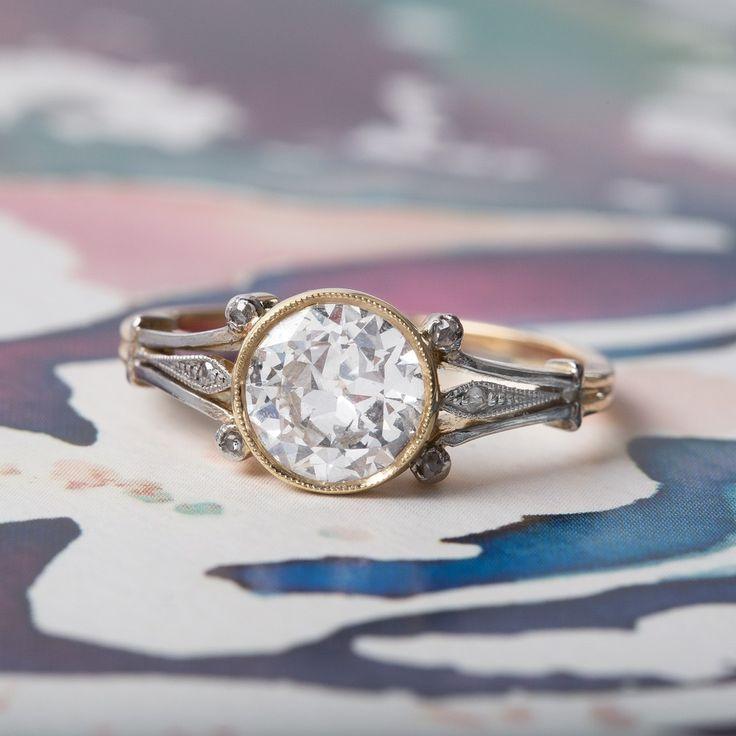 Amazing vintage Art Nouveau solitaire ring <3
