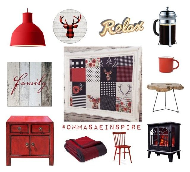 """Rustic chic cottage decor"" by ommasae on Polyvore featuring interior, interiors, interior design, maison, home decor, interior decorating, Swan, Muuto, Serena & Lily et Safavieh"
