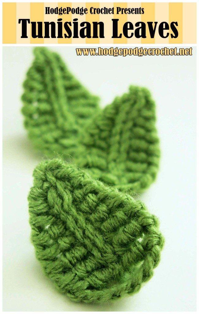 TUNISIAN LEAVES Tutorial skill level: Easy Tutorial by: Hodgepodge Crochet