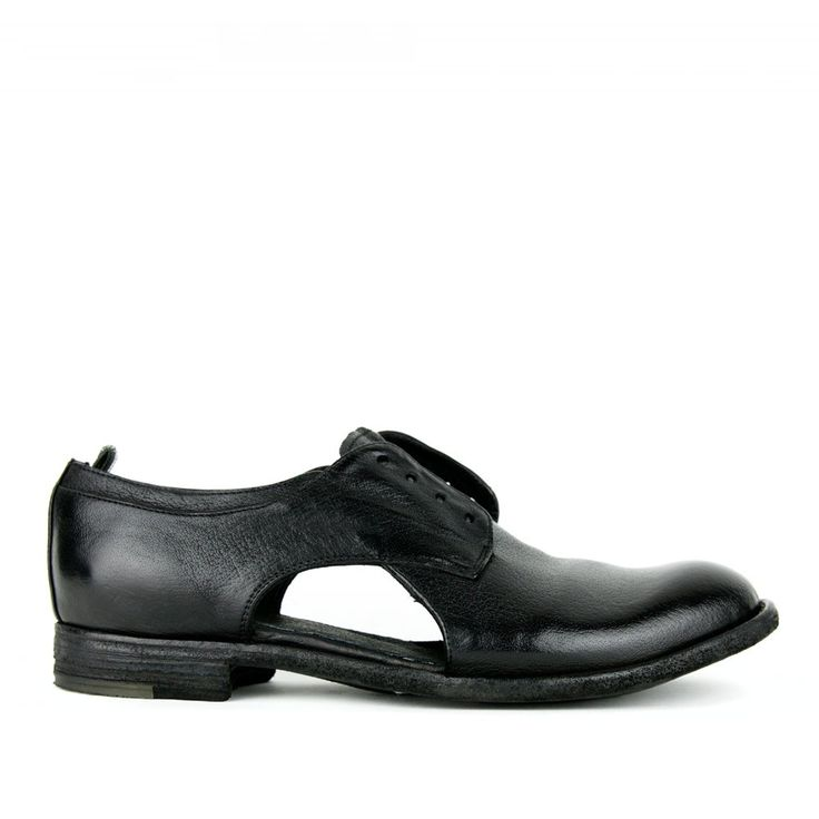 Officine Creative Lexicon/504 Black Cutout Laceless Oxford for Women