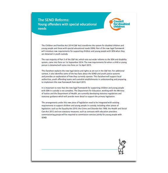 Resources on the SEND reforms, Local offer and more, including Easy Read versions from the  Council for Disabled Children