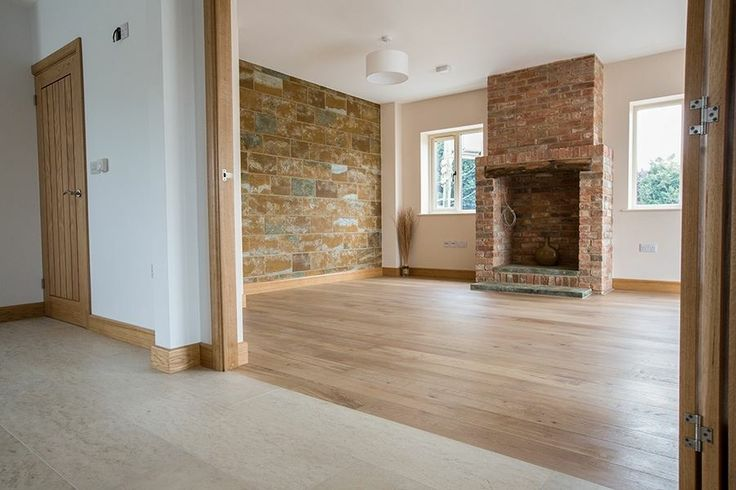 Wood and concreate flooring combination