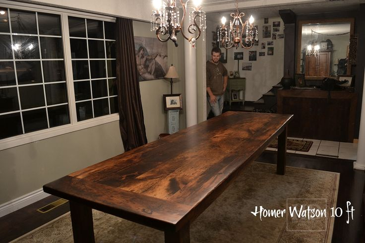 10 ft reclaimed wood harvest table local ontario aged for Local reclaimed wood