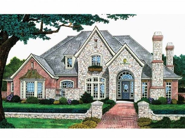 its a fairytale home for grownups plan dhsw49309 from dreamhomesourcecom has 3383 square french country house planseuropean - French Country House Plans