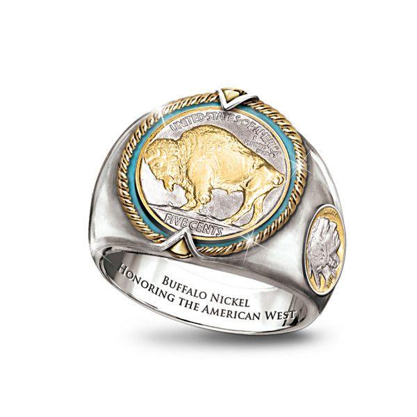 Bradford Exchange Buffalo Nickel Ring