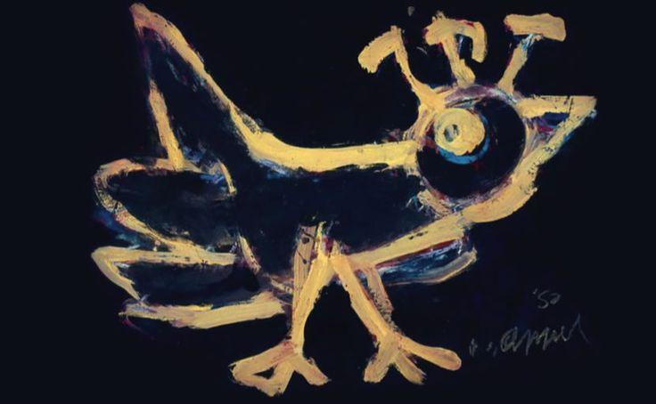 Karel Appel 1921-2006, Netherlands artist, part of the Cobra group.