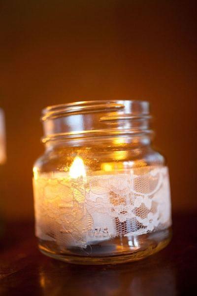 mason jars and lace