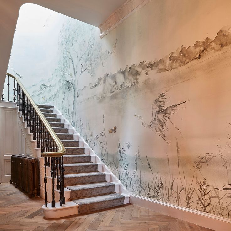 The wallpaper that adorns the reception area at Lympstone Manor hotel holds a very special place in our hearts. Commissioned by Michael Caines himself, we digitally designed this masterpiece bit by bit using scans of Rachel Toll's original artwork. #elegantandsubtle   ➡@lympstone_manor  ➡@macaines  ➡@watercoloursbyrachel   #Interiordesign #digitaldesign #graphicsdesign #wallpaper #watercolour #collaboration #design #designinspo #designinspiration #inspiration #luxury #hotelgoals #UK