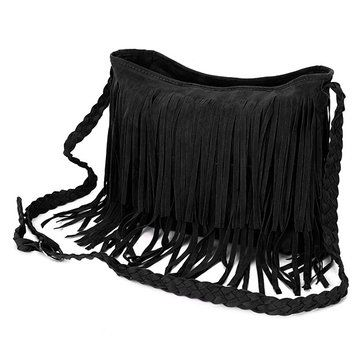 Women Retro Tassel Bags Girls Casual Shoulder Bags Crossbody Bags Messenger Bags - US$14.21