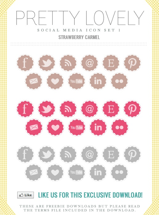icons for blogger: Social Icons, Blog Social, Icon Set, Free Social Media Icons, Icons Sets, Bloggers Yay, Icons Pinterest, Pretty Social, Medium