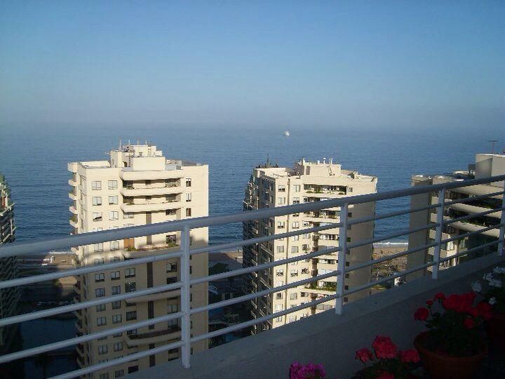 Vista desde un balcón, Viña del Mar