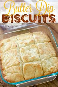 Did the title of this recipe get your attention? Butter. Dip. Biscuits. Hello lover. I just love biscuits. Is there anyone out there who...